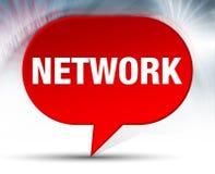 Röd bubblabakgrund för nätverk stock illustrationer