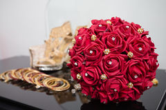 Röd bukett på skärm Royaltyfri Fotografi