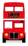 Röd buss Arkivbilder