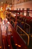 Röd buss för dubbelt däck Royaltyfri Bild