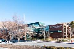 Röd Butteträdgård i universitetet av Utah arkivbilder