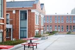 Röd byggnad Arkivbild