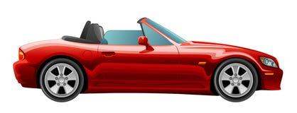 Röd cabriolet royaltyfri illustrationer