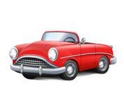 Röd cabriolet för Retro bil Fotografering för Bildbyråer