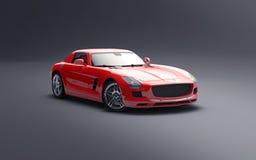 Röd cabriolet för Tyskland Royaltyfria Bilder