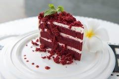 Röd cake Royaltyfria Bilder