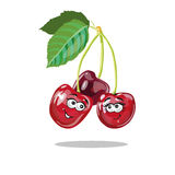 Röd Cherry Cartoon Characters vektor stock illustrationer