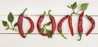 Röd chili Arkivfoto