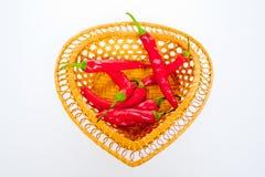 Röd chilipeppar Arkivbild