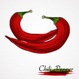 Röd Chilipeppar Royaltyfri Foto