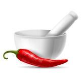 Röd Chilipeppar stock illustrationer