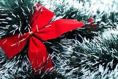 Röd christhmaspilbåge Royaltyfri Fotografi