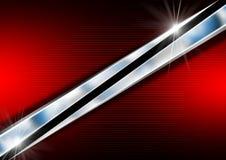 Röd Chrome affärsbakgrund Royaltyfri Foto
