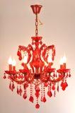 Röd Crystal belysning Fotografering för Bildbyråer