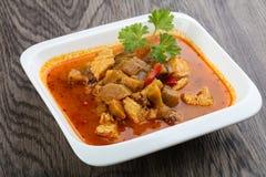 Röd curry arkivfoto