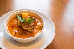 Röd curry för and royaltyfri foto