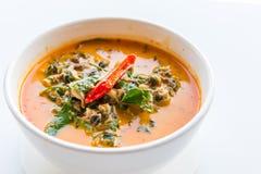 Röd curry för flodsnigel arkivfoto