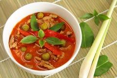Röd curry för griskött. Arkivbilder