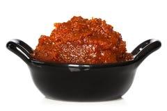 Röd curryPaste arkivbild