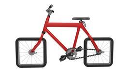 Röd cykel 3d Vektor Illustrationer