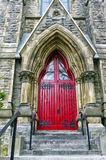 Röd dörr Arkivfoton