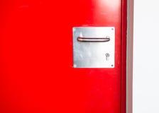 Röd dörr Royaltyfria Bilder