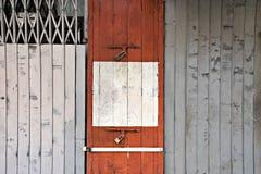 Röd dörr Royaltyfri Fotografi