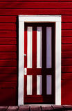 Röd dörr Arkivfoto