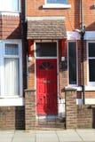 Röd dörr Royaltyfri Foto