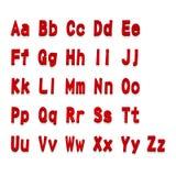 Röd 3d märker alfabetet som märker Design av röd abc för typografi, vektorillustration Royaltyfria Bilder