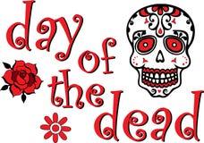 Röd dag av de döda grafiska altarehelgonen Vektor Illustrationer