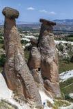 Röd dal på Cappadocia, Anatolien, Turkiet Vulkaniska berg in Royaltyfria Foton