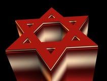 Röd davidsstjärna stock illustrationer