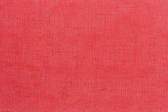 Röd dekorativ konstlädertexturbakgrund, slut upp Royaltyfri Bild