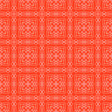 Röd dekorativ sömlös linje modell Royaltyfri Bild