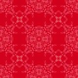 Röd dekorativ sömlös linje modell Royaltyfria Bilder