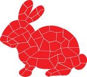 Röd design av kaninen vektor illustrationer