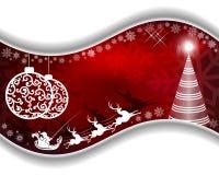Röd design för jul royaltyfri illustrationer