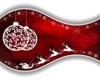 Röd designjul stock illustrationer