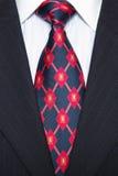 röd dräkttie för blå pinstripe Royaltyfri Foto