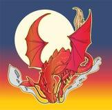 Röd drake Arkivbilder