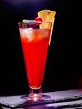 Röd drink med körsbär och ananas 84 Royaltyfri Fotografi