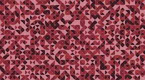 Röd durk för mosaiktriangeltegelplattor eller vägggarnering för tapet Bakgrund för textur för material för arkitekturdesignmodell stock illustrationer