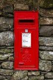 Röd engelsk bokstavsask Arkivbilder