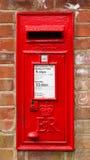 Röd engelsk bokstavsask Royaltyfri Fotografi