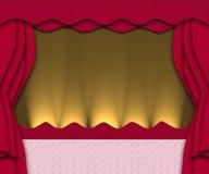 röd etapp stock illustrationer