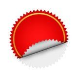 röd etikett Arkivfoton