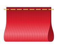 Röd etikett för att bekläda vektorillustrationen Arkivfoton