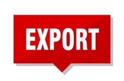 Röd etikett för export vektor illustrationer