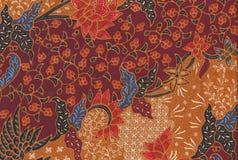 Röd etnisk blom- sömlös modell och apelsinfärger Royaltyfria Bilder